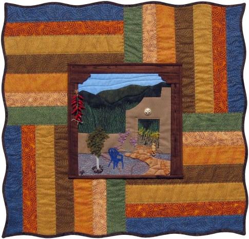 Mi Casa Encantada Fiber Art by Julie R. Filatoff