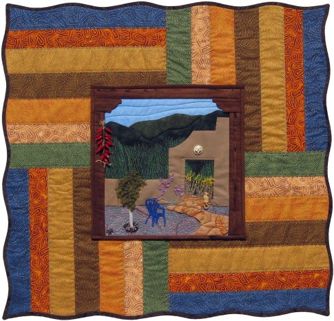 Mi Casa Encantada Fiber Art by Julie R. Filatoff