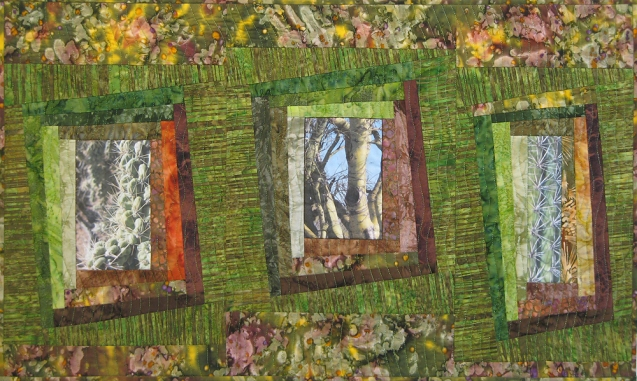 Three Views of the High Desert Fiber Art by Julie R. Filatoff