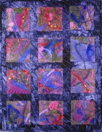 I Felt Purple Fiber Art by Julie R. Filatoff