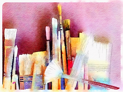 Brushes Photograph by Julie R. Filatoff