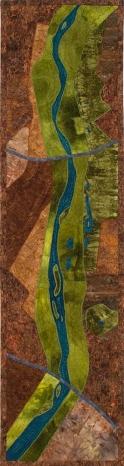 A Walk in the Bosque Fiber Art by Julie R. Filatoff