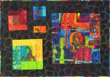 Fibonacci Giraffes Fiber Art by Julie R. Filatoff