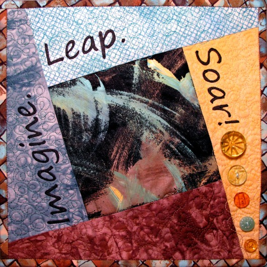 Imagine. Leap. Soar! Fiber Art by Julie R. Filatoff