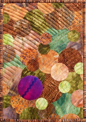Forest Floor Fiber Art by Julie R. Filatoff