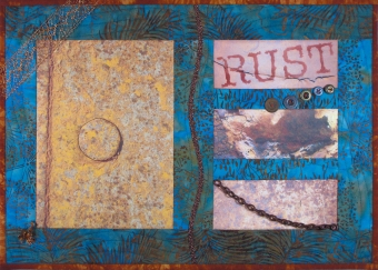 Rust Never Sleeps Fiber Art by Julie R. Filatoff