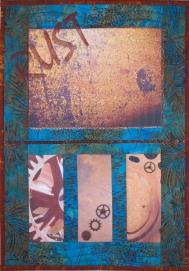 Rust Never Sleeps Fiber Art by Julie R. Filatoff