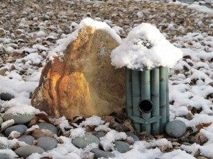 Snow in a Zen Garden Photograph by Julie R. Filatoff