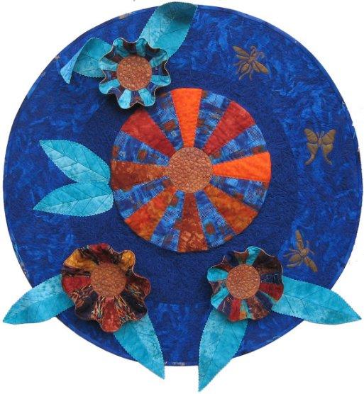 Kahnflowers Fiber Art by Julie R. Filatoff