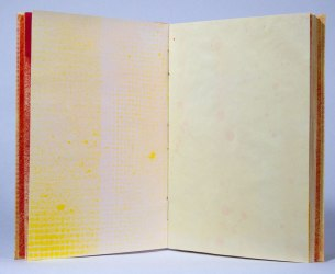 Warm Hues Sewn-Over-Tapes Book: Inside page.