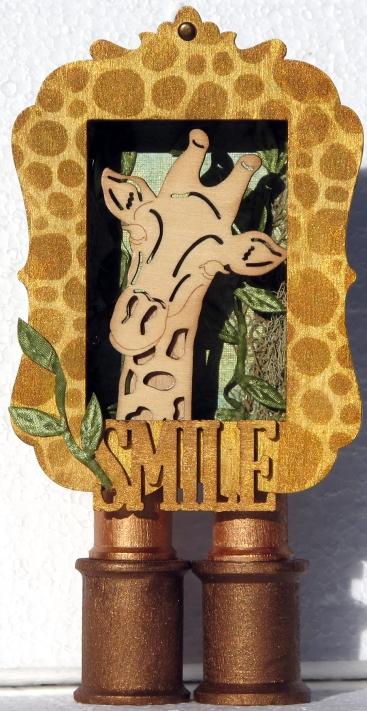 Smile mixed-media shrine (made from mint tin)